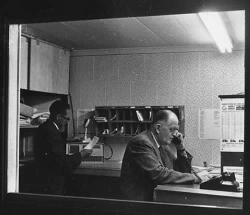 1950s archive photo of the office