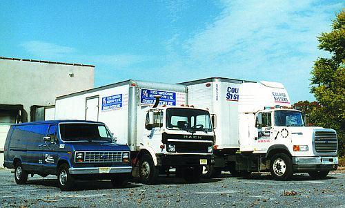 Courier System Trucks - ready to deliver your items - east coast USA