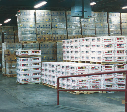 photograph of storage at one of the warehouses